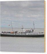 Mv Balmoral Leaves Penarth Pier Wood Print
