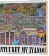 M V Iyanough Wood Print