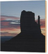 Mv Mitten Sunrise 7636 Wood Print