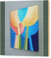 My Abstract Tulip Wood Print by Carola Ann-Margret Forsberg