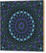 My Blue Garden Wood Print