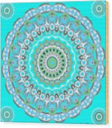 My Blue Heaven Mandala Wood Print
