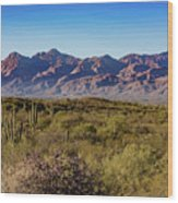My Catalina Mountains Wood Print