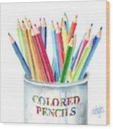 My Colored Pencils Wood Print