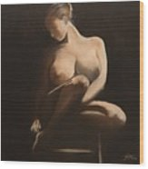 My Coy Mistress Wood Print