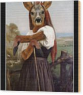 My Deer Shepherdess Wood Print