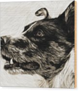 My Dog Wood Print