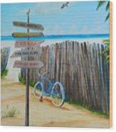 My Favorite Beaches Wood Print