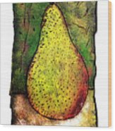 My Favorite Pear One Wood Print