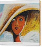 My Favorite Straw Hat II Wood Print