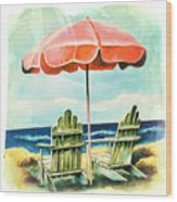 My Favorite Secret Beach Spot Wood Print