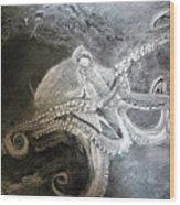 My Friend The Octopus Wood Print