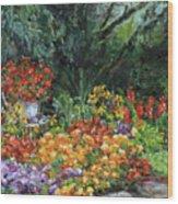 My Garden Wood Print
