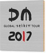 My Global Spirit Tour 2017 - Black Wood Print