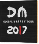 My Global Spirit Tour 2017 - White Wood Print