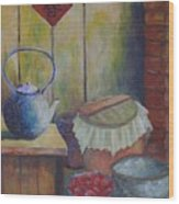 My Grandma's Kitchen Wood Print