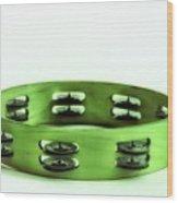 My Green Tambourine Wood Print
