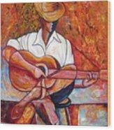 My Guitar Wood Print by Jose Manuel Abraham