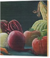 My Harvest Vegetables Wood Print