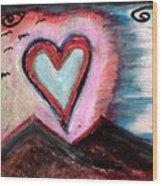 My Heart As The Sun Wood Print