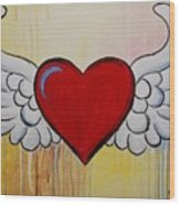 My Heart Has Wings Wood Print