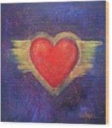 My Heart My Strength Wood Print