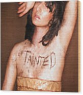 My Invisible Tattoos - Self Portrait Wood Print by Jaeda DeWalt
