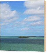 My Island In The Sand Wood Print