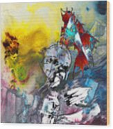 My Knight In Shining Armour Wood Print
