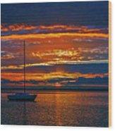 My Last Sunrise At 56 Wood Print