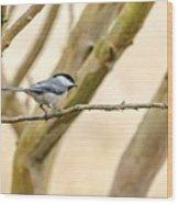 My Little Chickadee Wood Print
