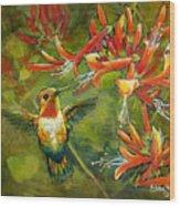 My Loving Hummingbird Wood Print