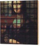 My Mona Lisa  Weave Series Wood Print by Teodoro De La Santa