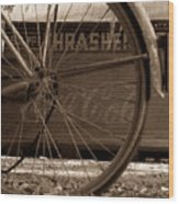 My Old Bike Wood Print