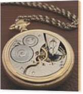 My Old Pocket Watch Wood Print