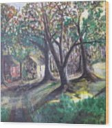 My Old Southern Plantation Home Wood Print