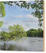 My Place By The River Wood Print