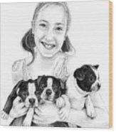 My Puppies Wood Print