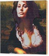 My Real Mona Lisa Wood Print