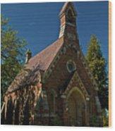 My Redeemer Lives Church Wood Print
