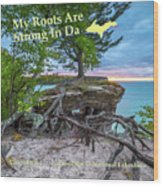 My Roots Are Strong Chapel Rock -6121 Pictured Rocks Michuigan Wood Print