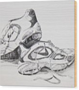 My Running Shoes Wood Print