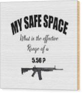My Safe Space Wood Print