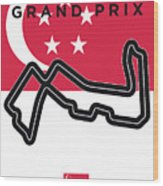 My Singapore Grand Prix Minimal Poster Wood Print