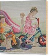 My Sisters Grandkids Wood Print by Diane Ziemski
