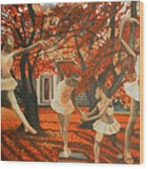 My Spirit Rises In Fall Wood Print