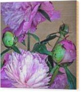 My Spring Garden Peony Wood Print