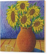 My Sunflowers Wood Print