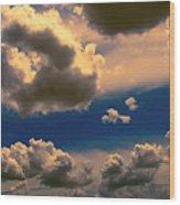 My Sunset Sky Wood Print by Wendy J St Christopher
