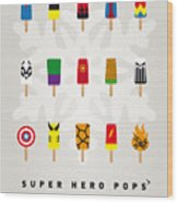 My Superhero Ice Pop - Univers Wood Print by Chungkong Art